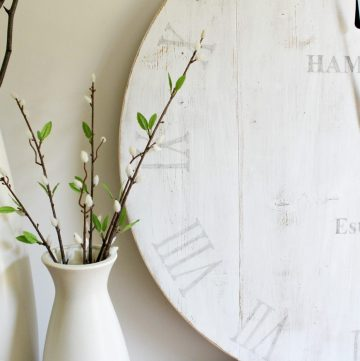 Personalized DIY wooden wall clock--make your own with this tutorial