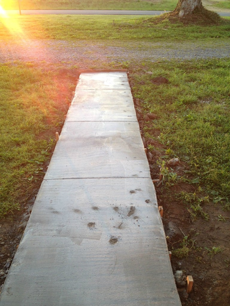 Improve curb appeal with new sidewalk