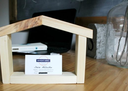 How to make a DIY house shaped business card holder