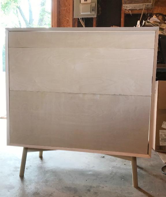 how to build a diy mid century dresser