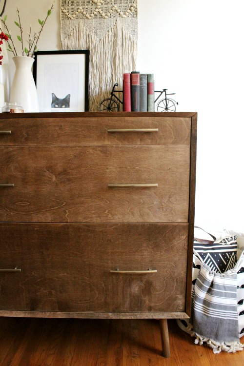 How to build a Mid Century Modern Dresser with Rounded Leg Base