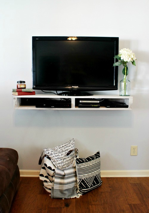 Beautiful Tv Shelf Part - 3: How To Build A Floating Shelf For Your TV--free Building Plans And Tutorial
