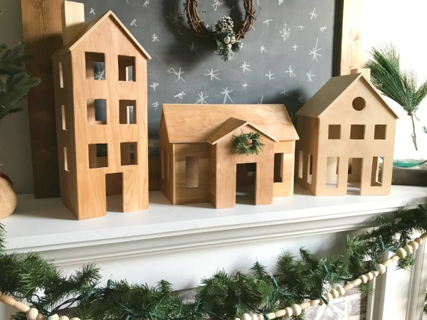 Scandi Style DIY Wooden Christmas village
