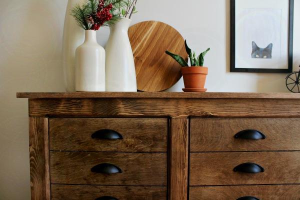 DIY Fake Drawer Cabinet Dresser