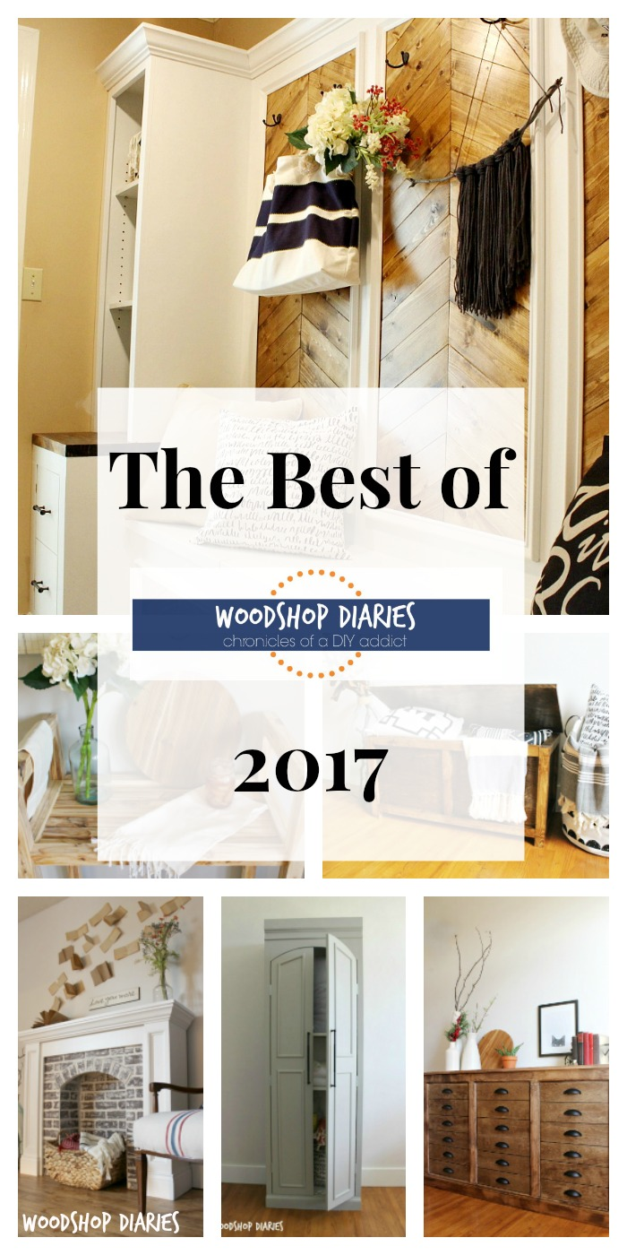 Woodshop Diaries Best of 2017 {and plans for 2018}