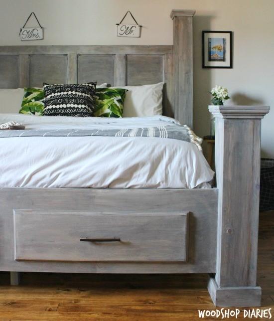 Diy Storage Bed Printable Woodworking Plans And Video Tutorial