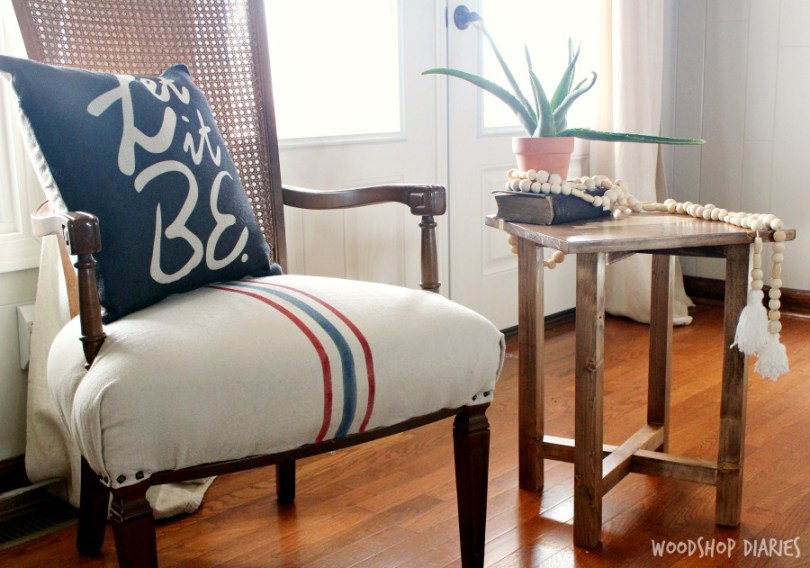 DIY Simple Side Table - How to build a side table