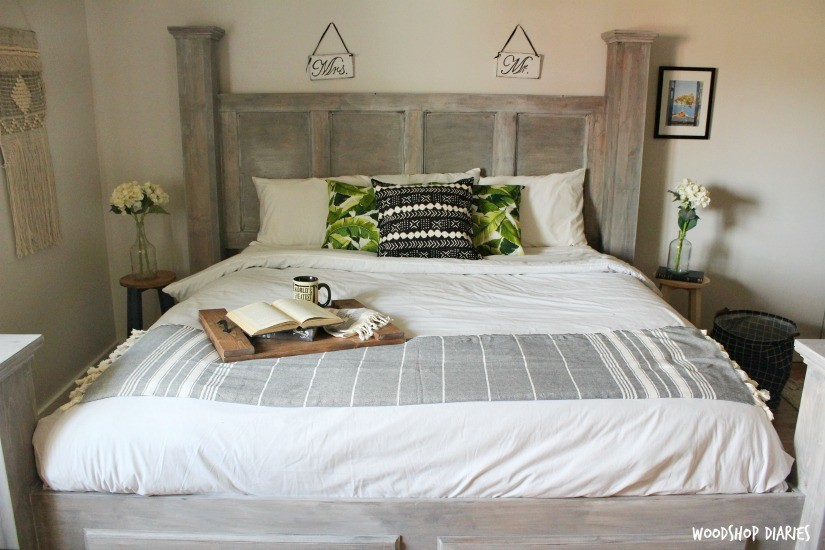 How to build a King Size Storage Bed--Free building plans