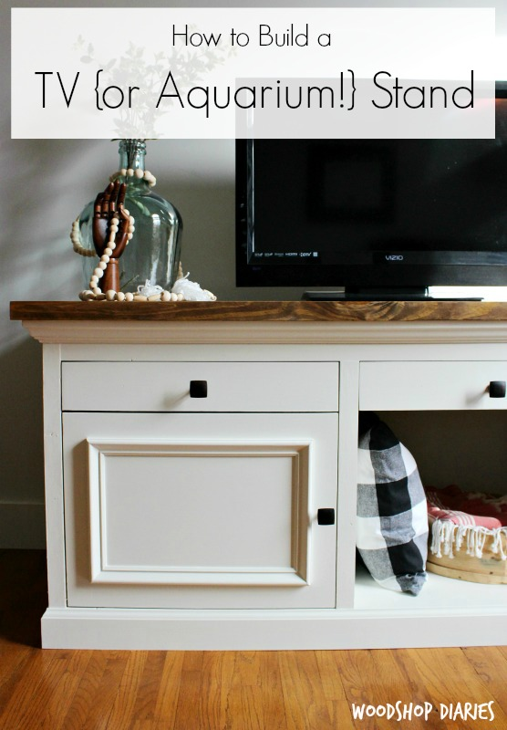 How To Build A DIY TV Cabinet Stand Thatu0027s Sturdy Enough For An Aquarium  Stand!
