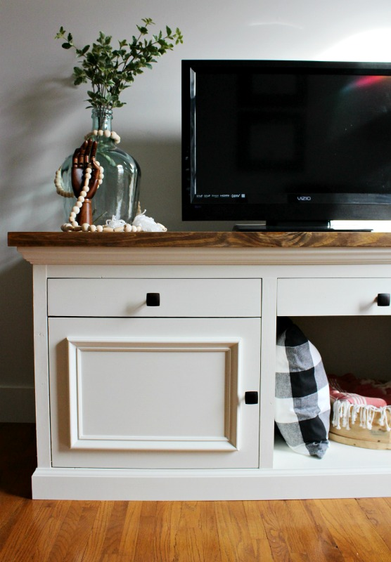 How to Build a DIY TV Cabinet--Free Woodworking Plans and Tutorial