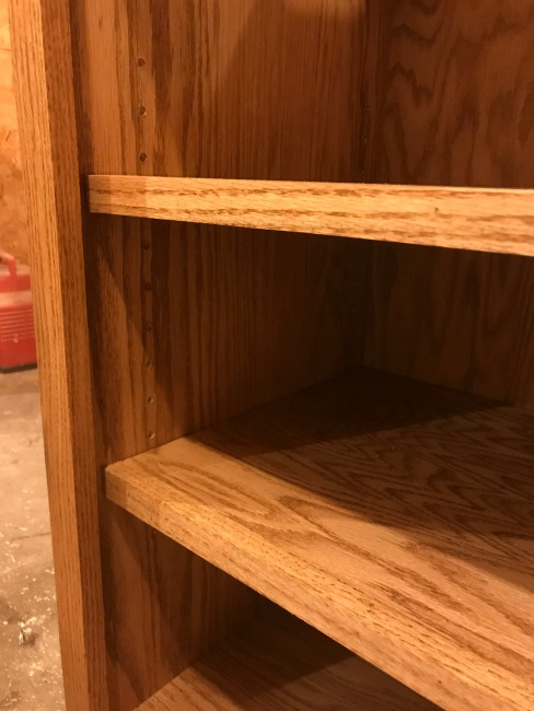 Finish oak shelf fronts with edge banding