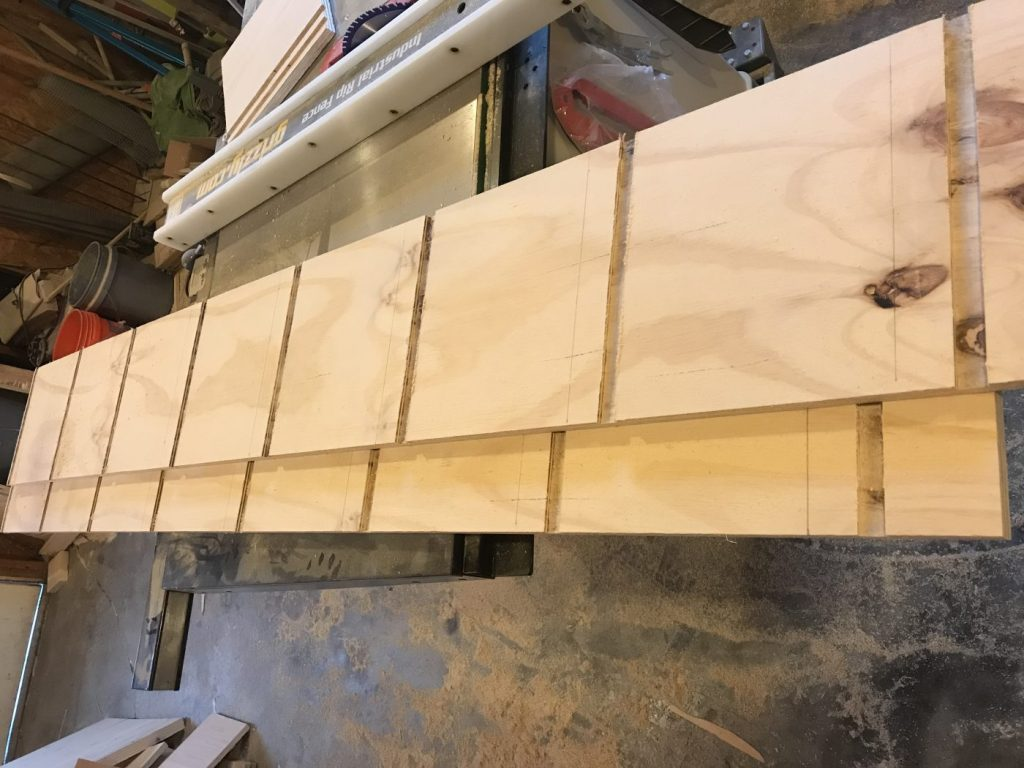 Now That The Sides Are Done Its Time For Shelves I Cut Dadoes In Center Of One Side Each Shelf Board And Then Flipped It Over Two