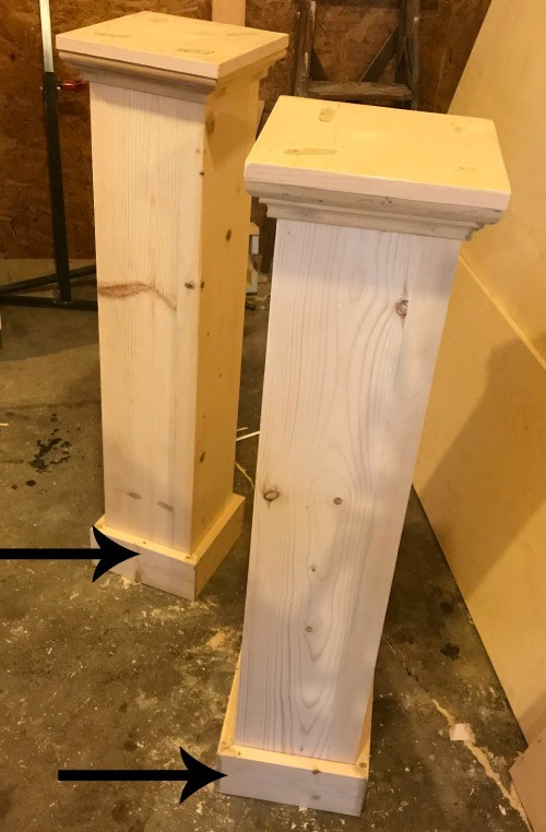 trim added to head and foot board posts