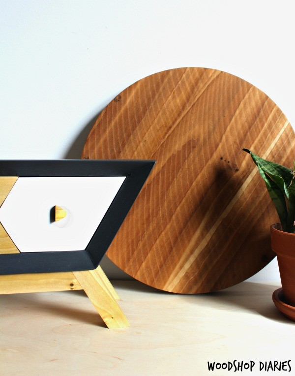 How to make a mid century modern retro style DIY Bluetooth Wooden Speaker box with hidden compartment for cord storage!
