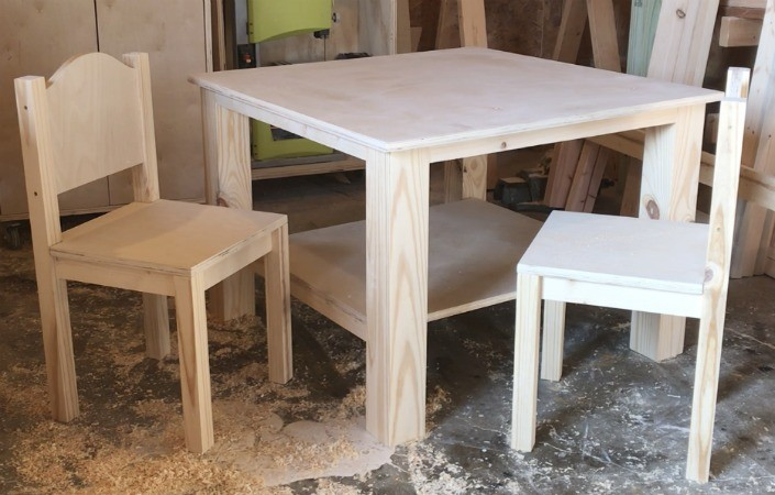 Groovy How To Build A Diy Kids Play Table And Chairs Free Building Pabps2019 Chair Design Images Pabps2019Com