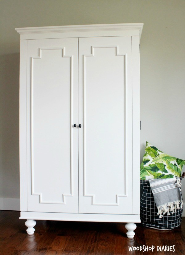 how to build a diy wardrobe armoire storage cabinet with shelves. Black Bedroom Furniture Sets. Home Design Ideas