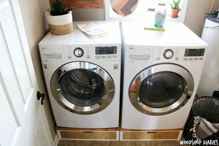 How To Build Your Own Diy Washer And Dryer Pedestal Stands