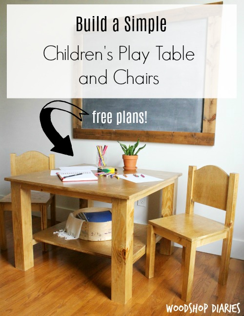 Enjoyable How To Build A Childrens Table And Chairs Diy Pin Woodshop Beutiful Home Inspiration Truamahrainfo
