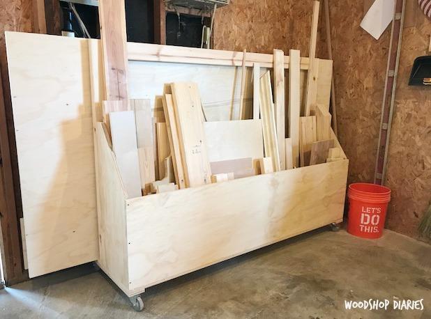 How to Build a DIY Rolling Scrap Wood Cart