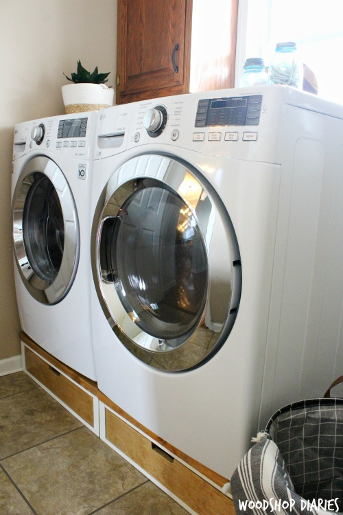 How to Build a Set of DIY Washer and Dryer Pedestal