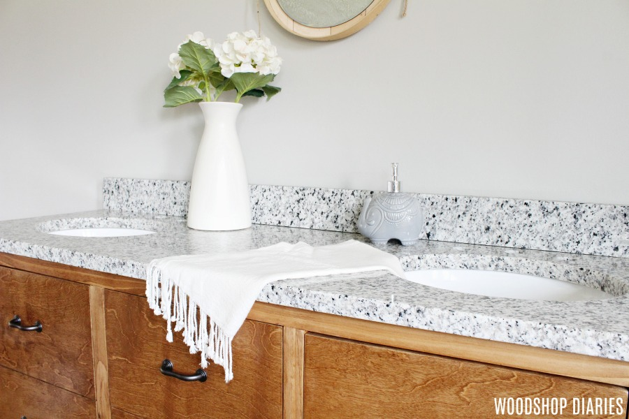 How to build a DIY bathroom vanity to maximize your storage space