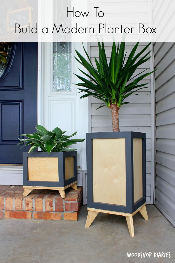 How To Build A Diy Modern Planter Box From Wood Scraps