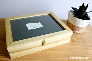 How to build a DIY wooden keepsake box with splines and picture frame top