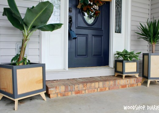 How to build your own modern plant stands for front porch or even inside the house
