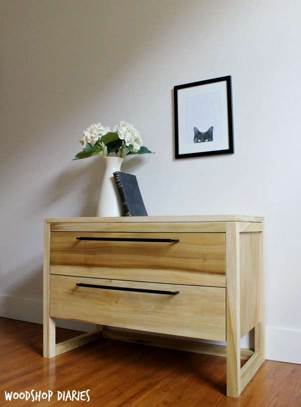 How To Build A Diy Modern Nightstand With Two Large Storage