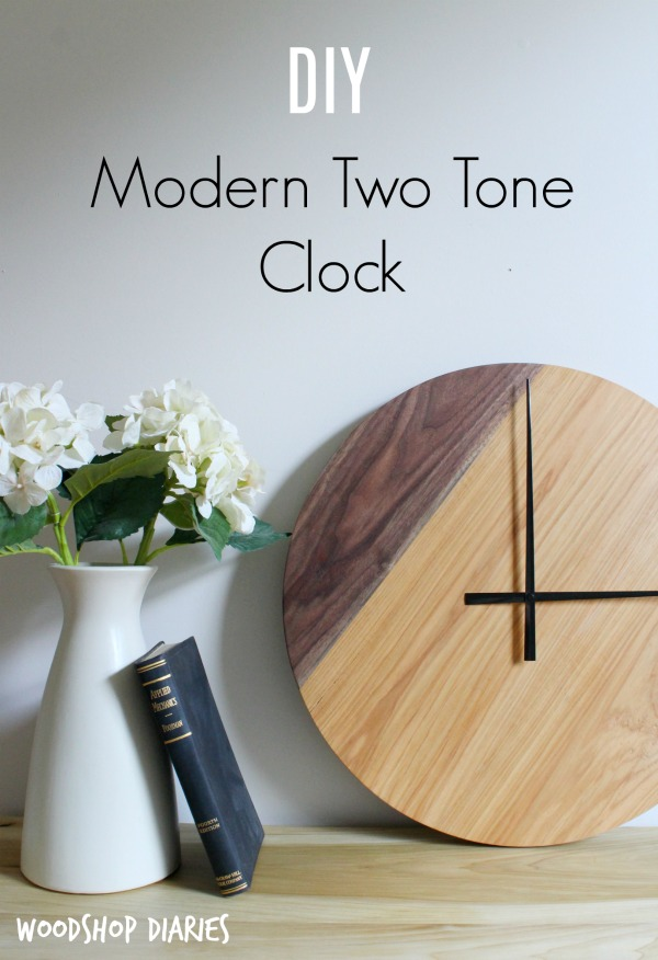 How to build a simple two tone modern DIY wooden wall clock--Easy to follow tutorial and video