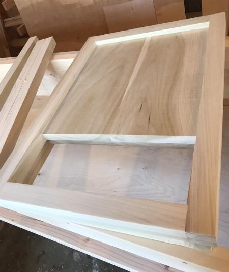 Side panels of DIY modern nightstand assembled