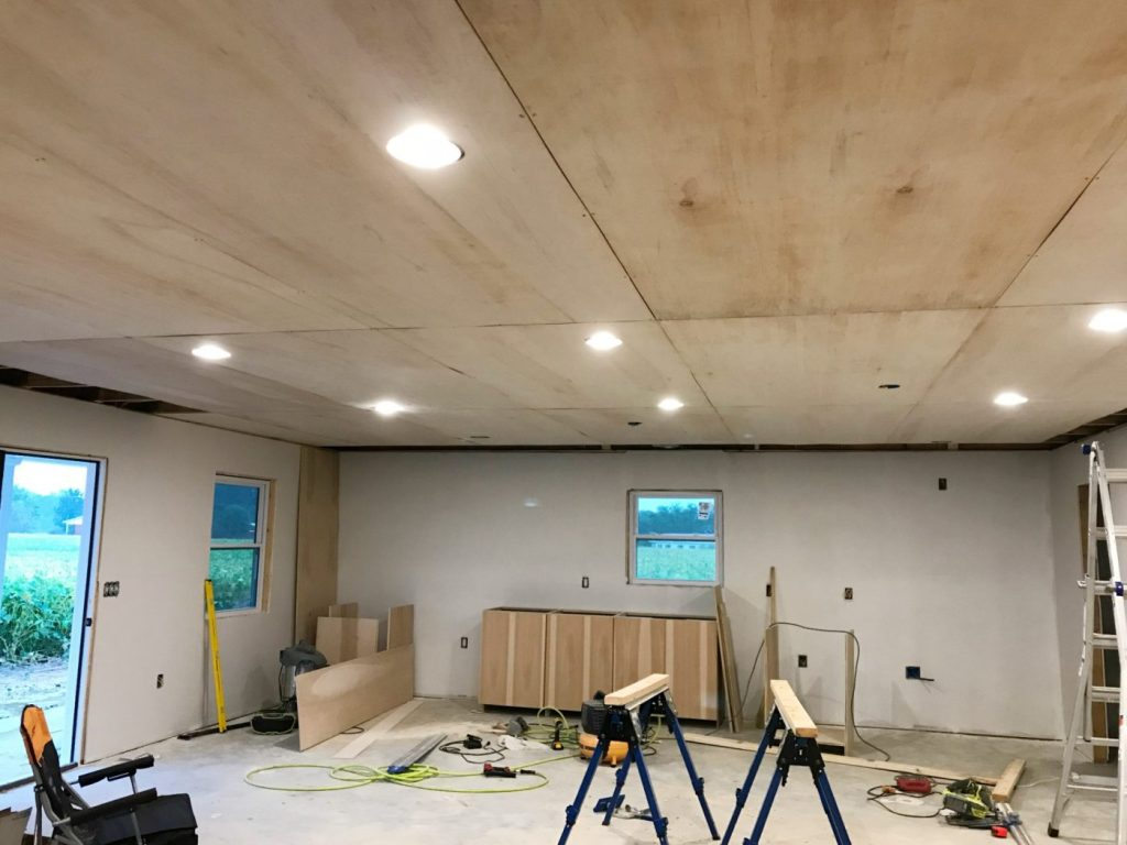 Plywood ceiling layout direction