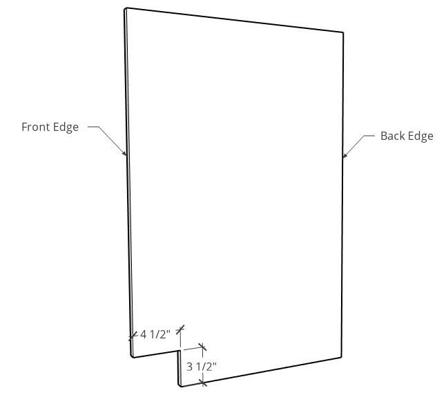 DIY Kitchen cabinet toe kick diagram