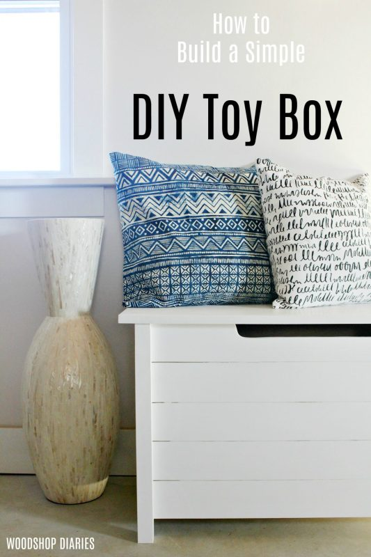 Diy Simple Faux Slat Toy Box