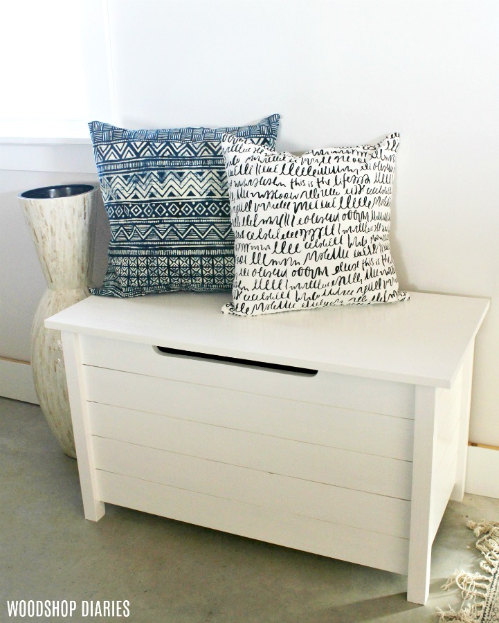 How to give a simple plywood box faux slats