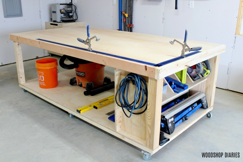 Fabulous How To Build A Diy Mobile Workbench 3 In1 Storage Outfeed Pabps2019 Chair Design Images Pabps2019Com