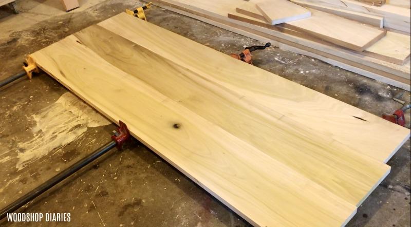 Glued up modern bed frame panel