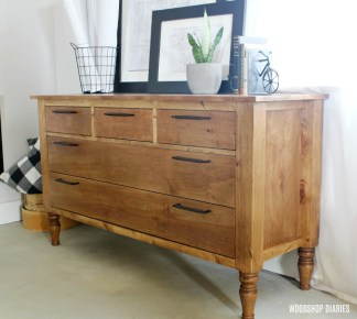 DIY 5 Drawer Dresser