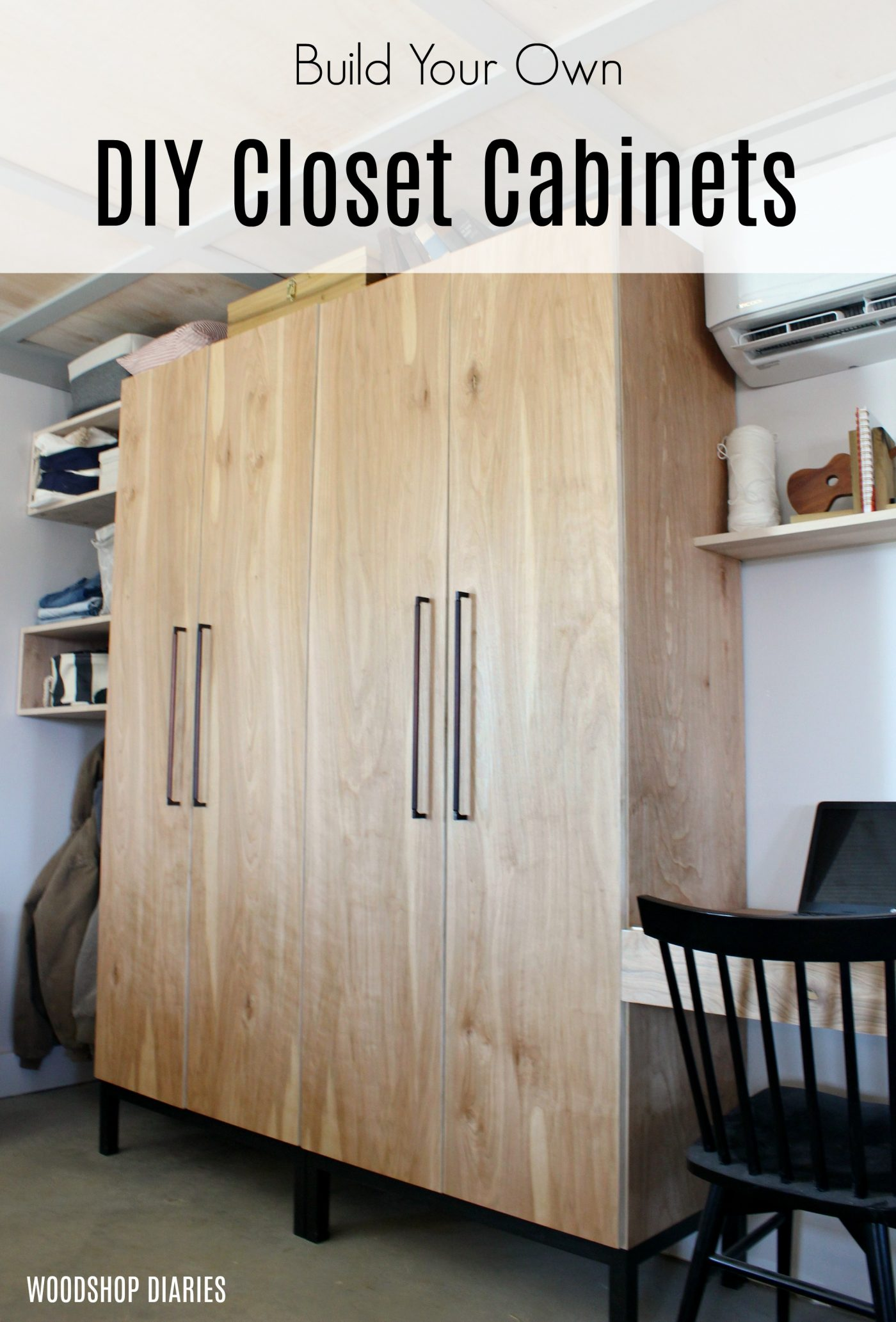 DIY Closet Cabinet With Adjustable Shelves, Shoe Rack, and