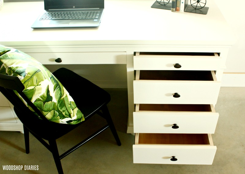 DIY Storage Desk with Plenty of Drawer Storage