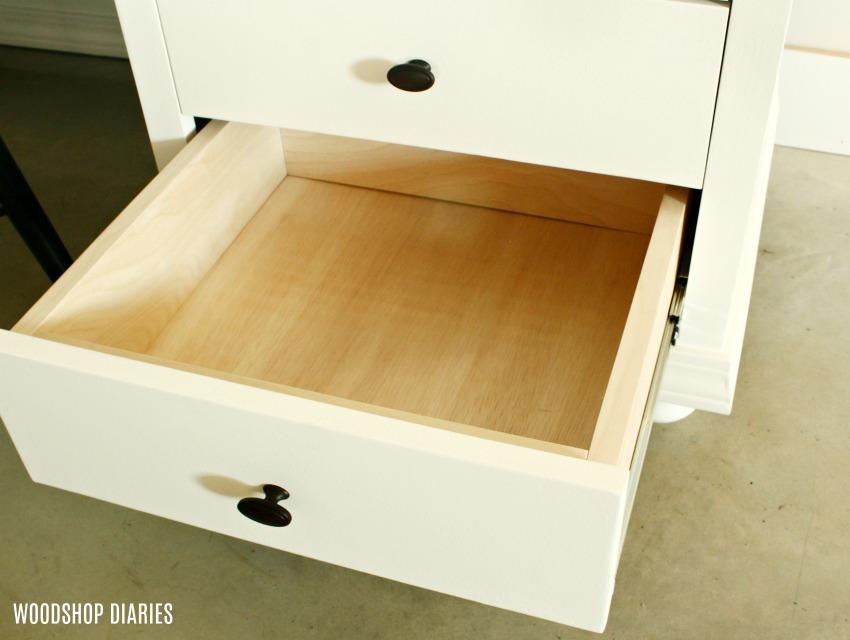 DIY Storage Desk Plywood Drawers