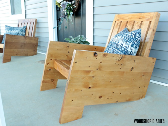 How to Build Your Own DIY Wooden Modern Outdoor Chairs for Porch or Patio Furniture
