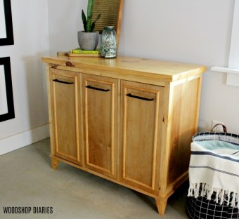 How to Build a Tilt Out Laundry Hamper Storage Cabinet