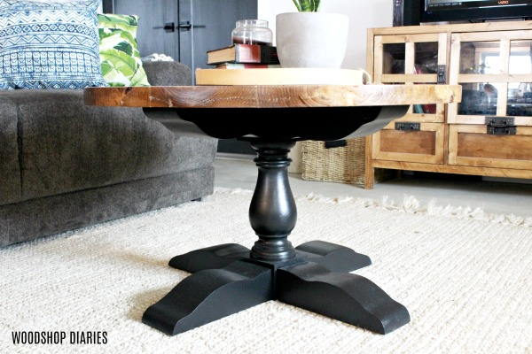 How to Build a DIY Round Wooden Pedestal Coffee Table