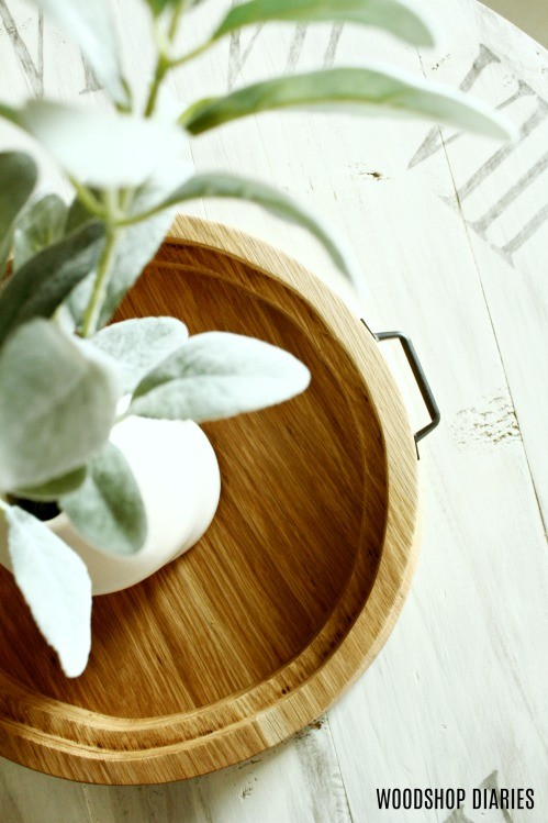 How to make a DIY round wooden serving tray