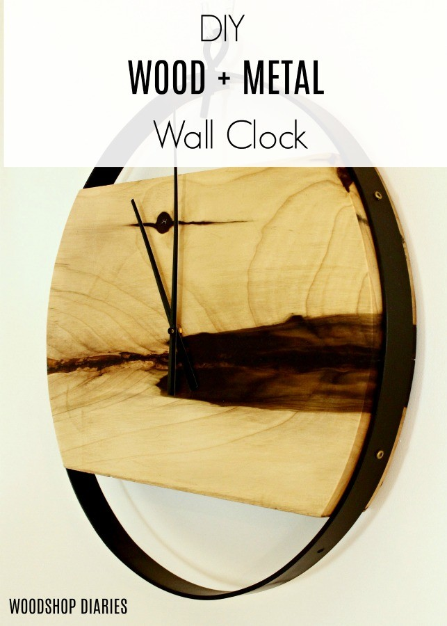 How to Make a Modern Industrial DIY Wood and Metal Wall Clock