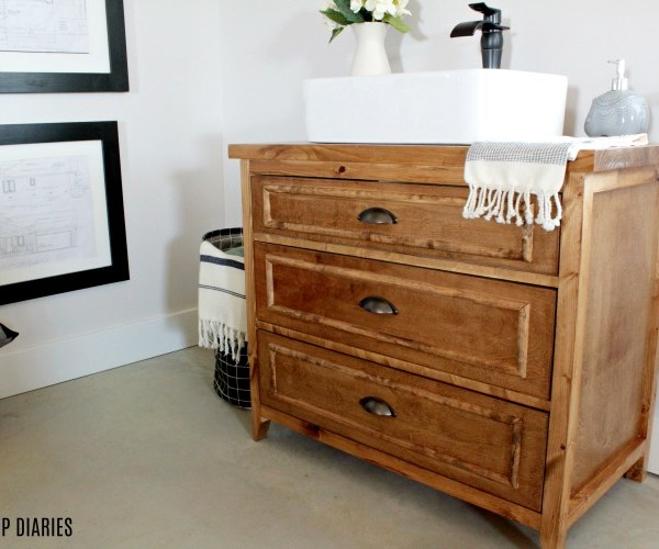 How to build a diy vanity with drawers