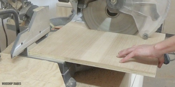 Cut bottom plywood for tray mold
