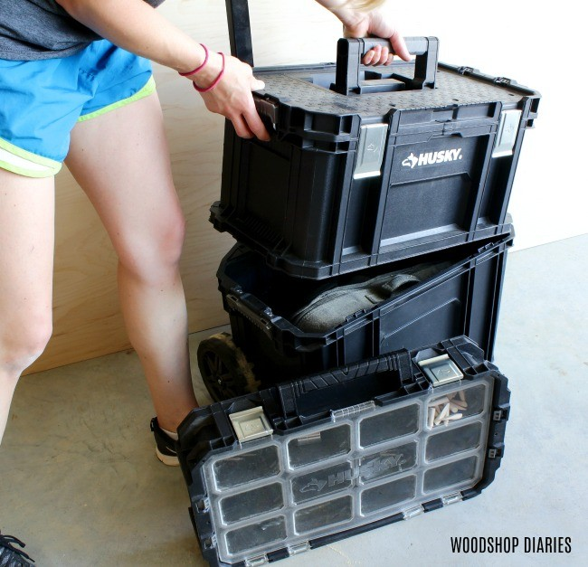 Interlocking rolling system tool box