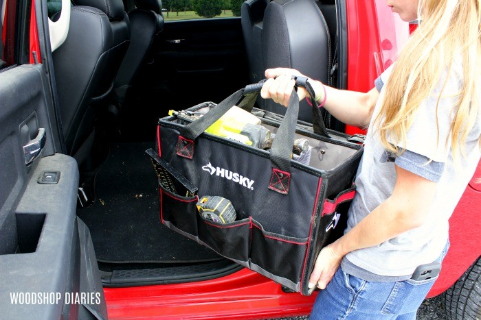 Handy Husky Tool Tote for working on the go